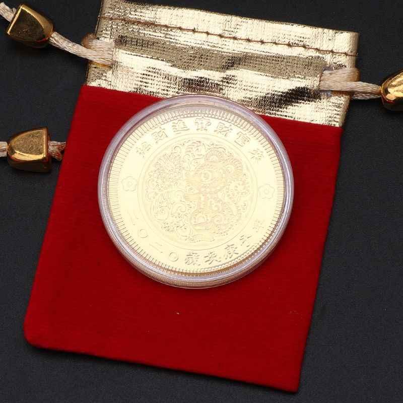 2020 Năm Mới Chuột Đồng Tiền Kỷ Niệm Hoàng Đạo Trung Quốc Lưu Niệm Chuột Vàng Đồng Tiền