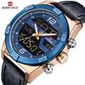 NAVIFORCE мужские креативные спортивные водонепроницаемые часы модные кварцевые часы с двойным циферблатом наручные часы Мужские часы Relogio ...