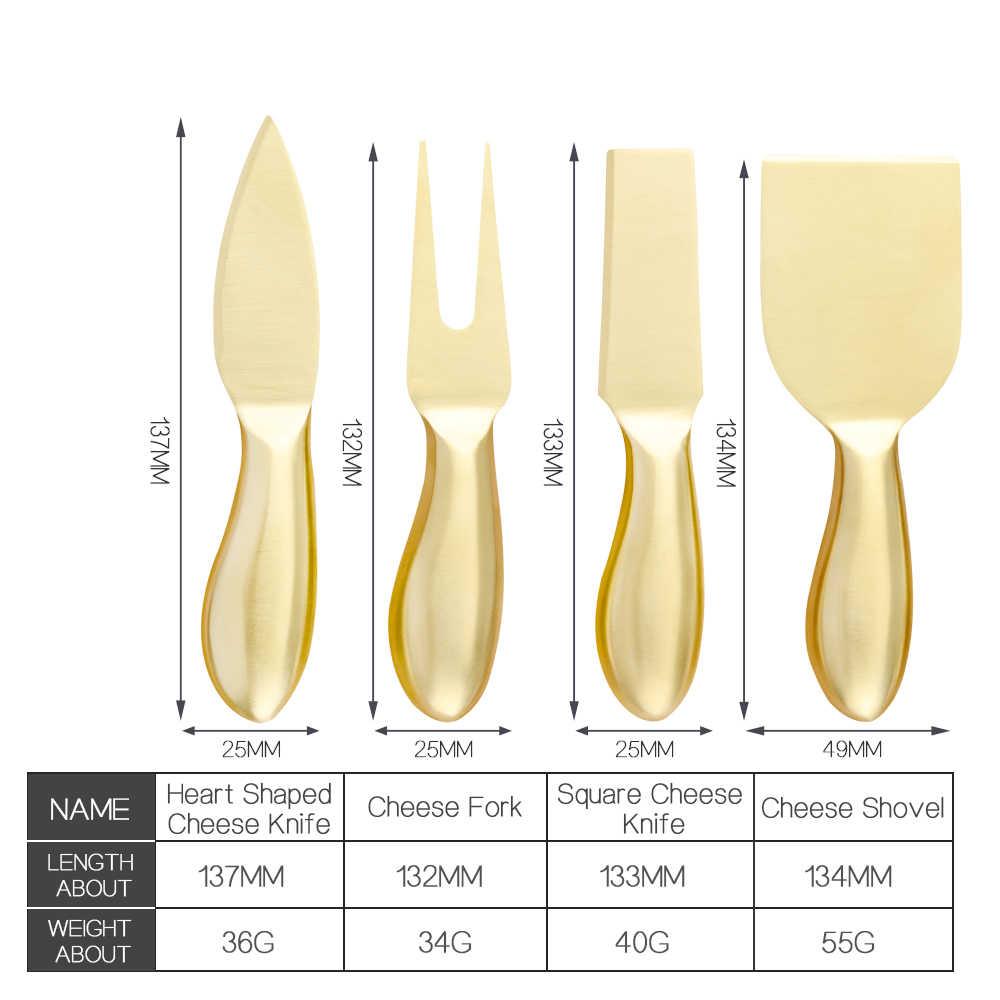 4 sztuk/zestaw zestaw noży do sera masło ze stali nierdzewnej rozrzutnik krajacz do sera krajalnica widelec zestaw kuchnia przydatne śniadanie narzędzia kuchenne