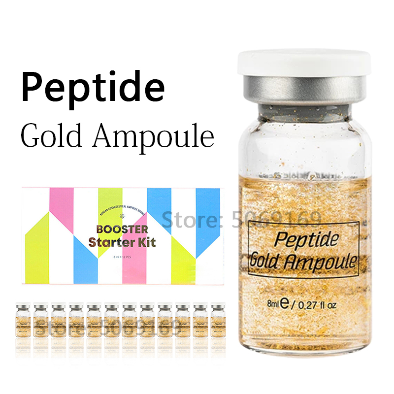 8ml BB Cream Glow EGF Peptide GOLD AMPOULE Hyaluronic Acid Serum For MTS Machine Mesoherapy Brighten Anti Aging Skin Treatment