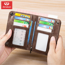 Coin Purse Men's Wallet Short New Leather Wallet Vertical Men's Multifunctional Wallet Card Holder ASBD029