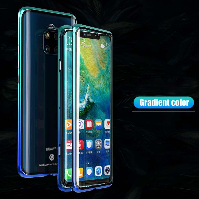 Image 5 - Luxury Magnetic Metal Bumper,Case For Huawei P30 Pro P20 Mate 20 Cover 360 Glass Full Body Phone Case Huawei P30 Case Armor P 30-in Fitted Cases from Cellphones & Telecommunications
