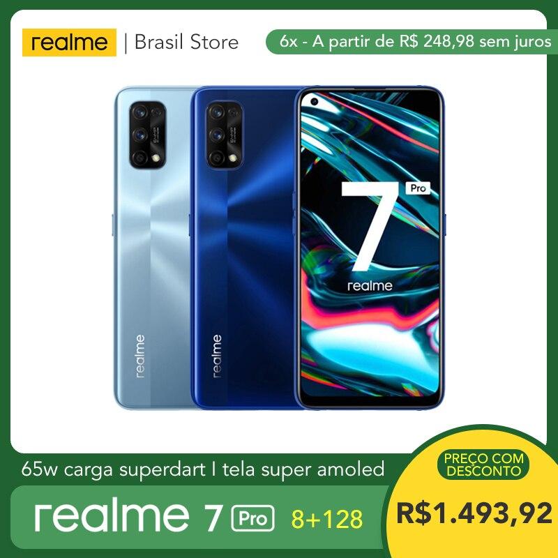Смартфон realme 7 Pro, 8 + 128 ГБ, 65 Вт, процессор Snapdragon 720G, Super AMOLED