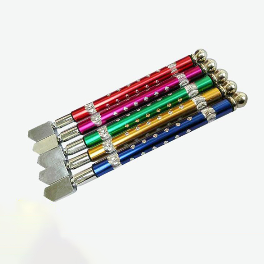 3mm-12mm Professional Glass Cutter Cutting Oil Feed Carbide Tipped Colorful Alloy Handle For Tiles Glass, Pencil Shape