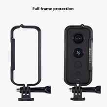 عمل كاميرا حماية الإطار ل Insta360 واحد X GoPro واجهة مع عدسة غطاء للحماية قفص أرانب الإطار اكسسوارات