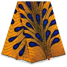 Африканская перьевая ткань с принтом павлина Гарантированная настоящая голландская Вощеная Высококачественная язычная Датская восковая 6 ярдов