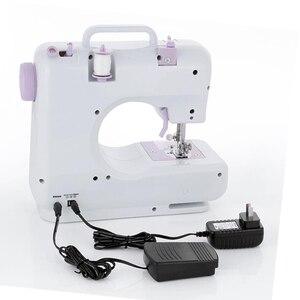 Image 4 - Новая многофункциональная швейная мини машина с двумя скоростями и двойной нитью для начинающих
