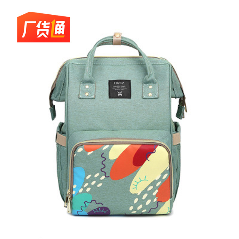 Diaper Bag Hand Backpack Printed MOTHER'S Bag Large Capacity Multi-functional Casual Travel Bag From The Grant Three Pieces