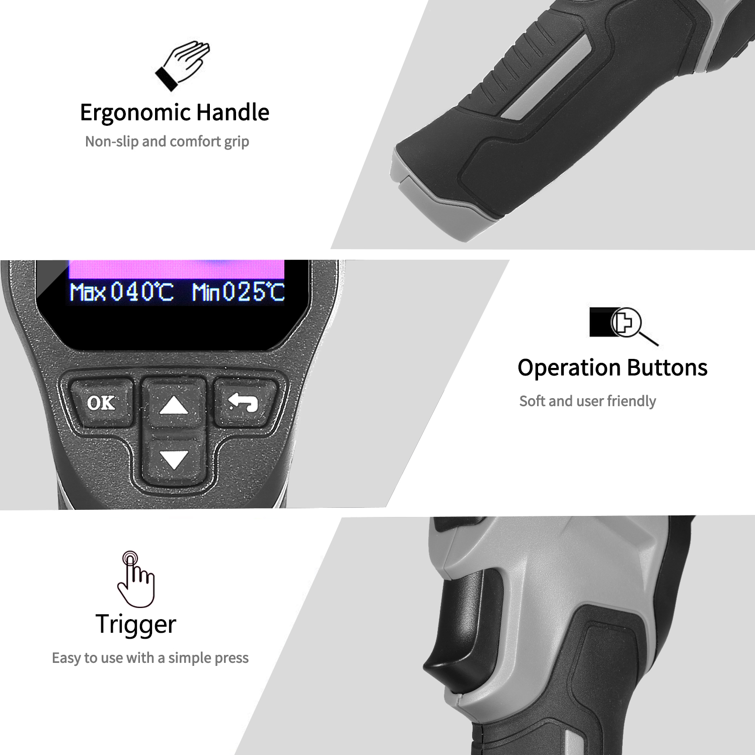 Mini Handheld Thermal Camera TFT Imaging Devices With LCD Display For Imaging Camera 2