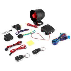 Uniwersalny 1 Way alarm samochodowy System ochrony bezpieczeństwa pojazdu System dostęp bezkluczykowy syreny + 2 zdalnego sterowania włamywacz gorąco w Alarm antywłamaniowy od Samochody i motocykle na