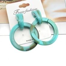 Big Round Dangle Earrings for Women Jewelry Acrylic New Arrivals Statement Drop Earrings Fashion Wedding Earring Jewelry недорого