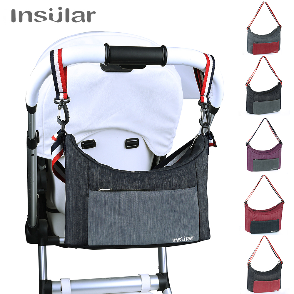 Insular Baby Stroller Organizer Bag Mummy Diaper Bag Folding Travel Nappy Bags Baby For Stroller Carriage Hanging Storage Bag thumbnail