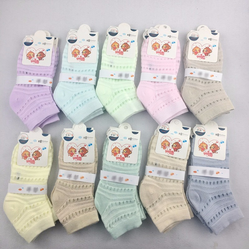 Candy-colored Children's Socks Thin Cute Sweet Mesh Hole Socks Cotton Breathable Cool Multicolor 2020 Spring Autumn