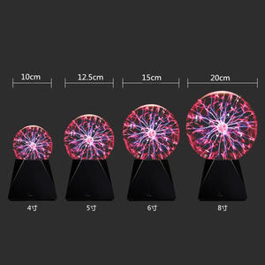 Plasma-Ball-Light Sphere Night-Lamp Glass Novelty 6inch 3 4-5