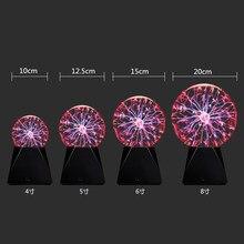 Novidade, vidro mágico, bola de plasma, luz de mesa de 3 4 5 6 polegadas, esfera, luz noturna mágica, lâmpada de plasma