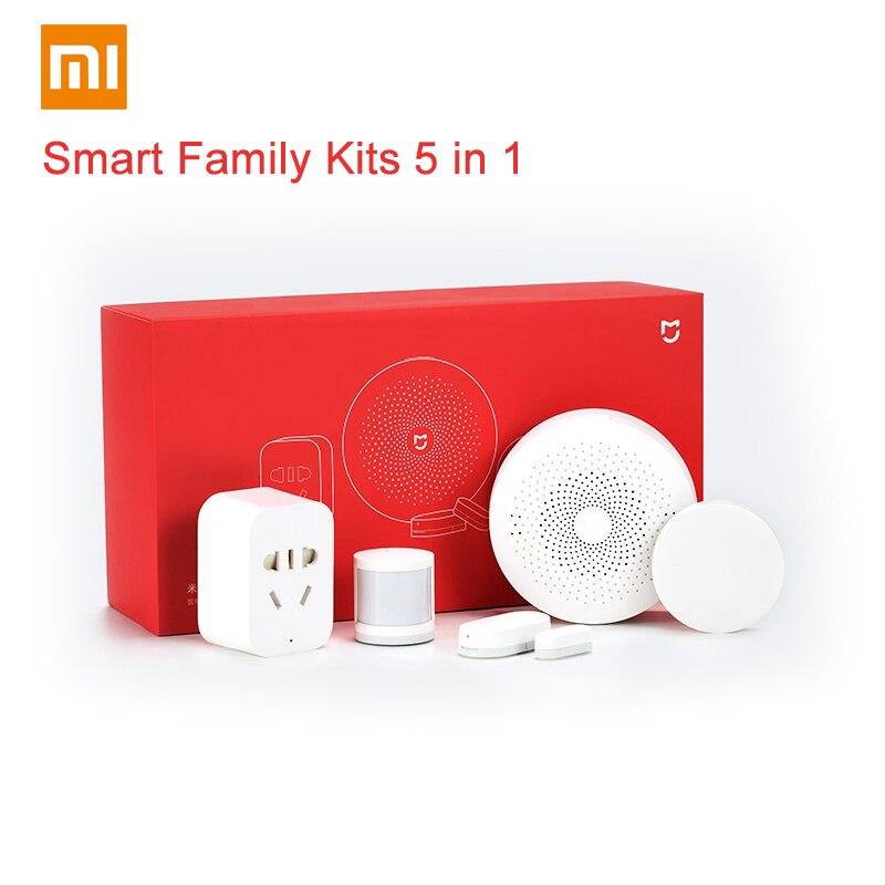 Original Xiaomi Smart Home Kits Gateway Version 2 Door Window Sensor Human Body Wireless Switch Humidity Zigbee Socket MI APP MI