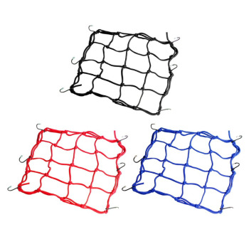 30x30cm Luggage Cargo Mesh Net Car Accessories Motorcycle Bike Helmet Holder 6 hooks Hold Mesh Net Bag Auto Car Styling Tool image