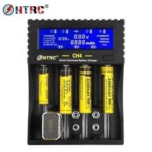 HTRC 4 Slots Battery Charger Li ion Li fe Ni MH Ni CD LCD Smart Fast Charger For 26650 6F22 9V AA AAA 16340 14500 18650 Battery