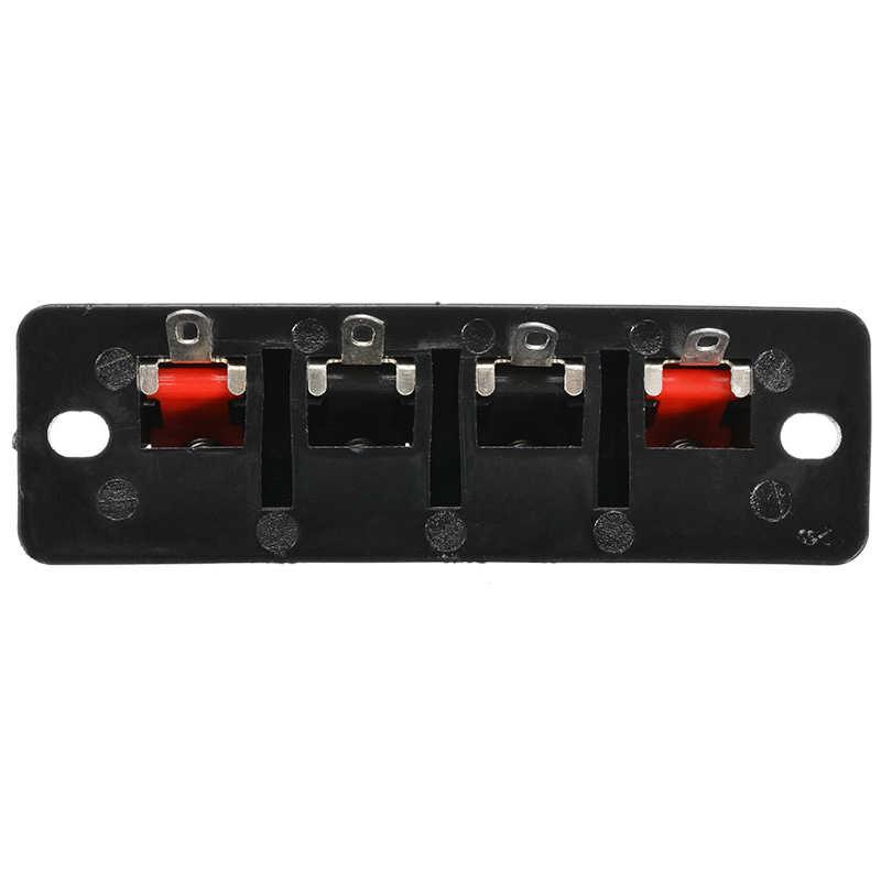 2 szt. 4 pozycje złącze panelu głośnikowego 4 pinowe gniazdo sprężynowe gniazdo audio terminale głośnikowe AC 50V 3A