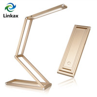 Foldable Dimmable LED Table Lamp Portable Led Desk Lamp Rechargeable Battery powered Reading Lamp Desktop Night Lighting