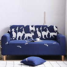 Universal Cartoon Milk Silk Sofa Cover Slipcovers Animal Stretch Bear Fox  Pattern Sofa Covers for Living Room Couch Cover Sofa