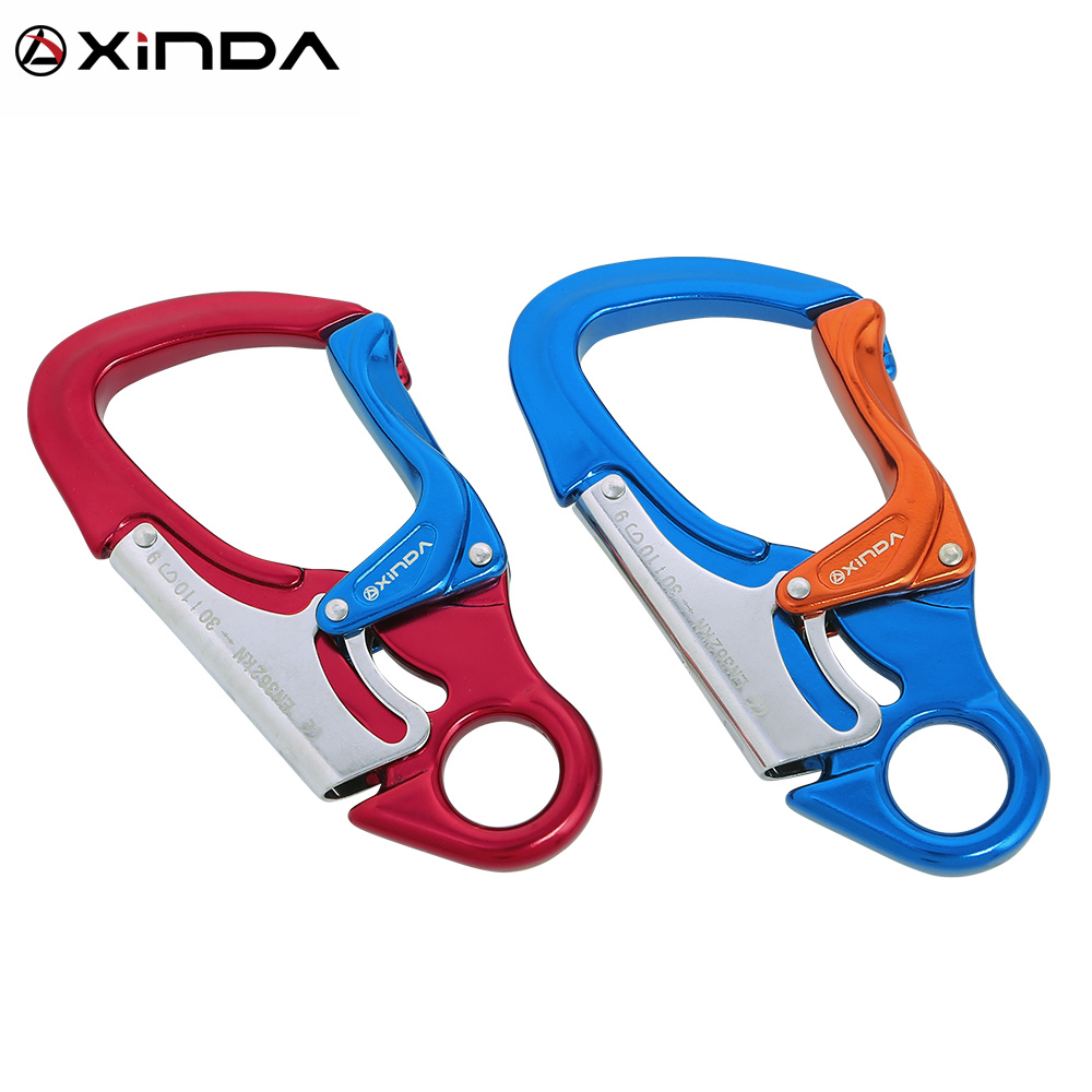 Xinda Outdoor Rock Climbing Carabiner 30KN Mountaineering downhill Safety hook Via Ferrata Buckle Working At Height  Equipment