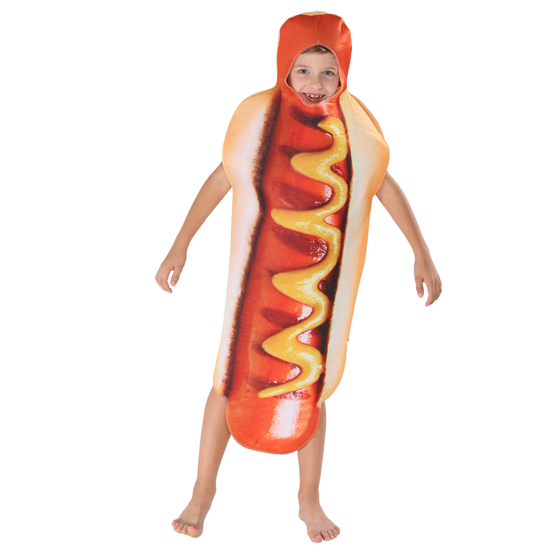 SATCOPY Halloween Costume For Boy Hot Dog Costume Funny Hotdog Food Cosplay Carnival Costume Adult Kid Party Cosplay Holiday Cos