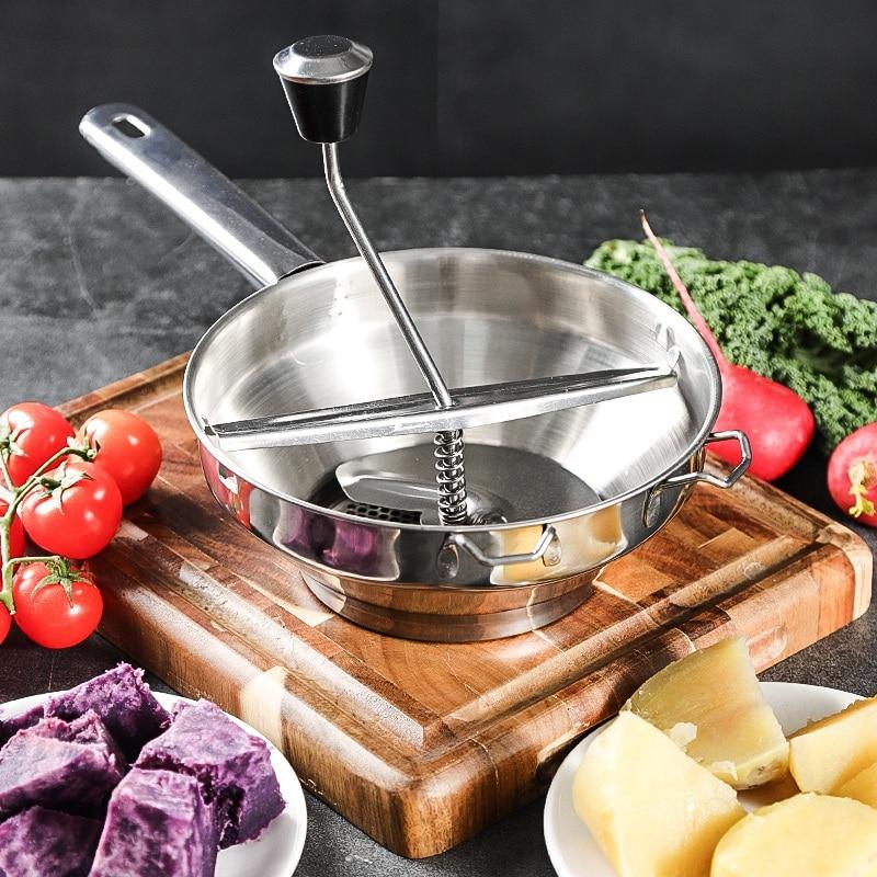 Роторная пищевая мельница из нержавеющей стали отлично подходит для приготовления пюре или супов овощей, креативные домашние кухонные инс...
