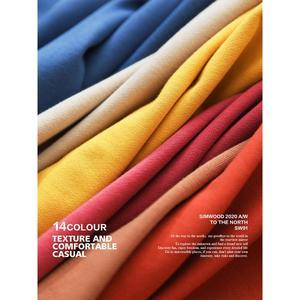Image 5 - SIMWOOD 2020 jesień nowe bluzy mężczyźni Casual minimalistyczna bluza O neck haft logo Plus rozmiar zwykły sweter SI980547