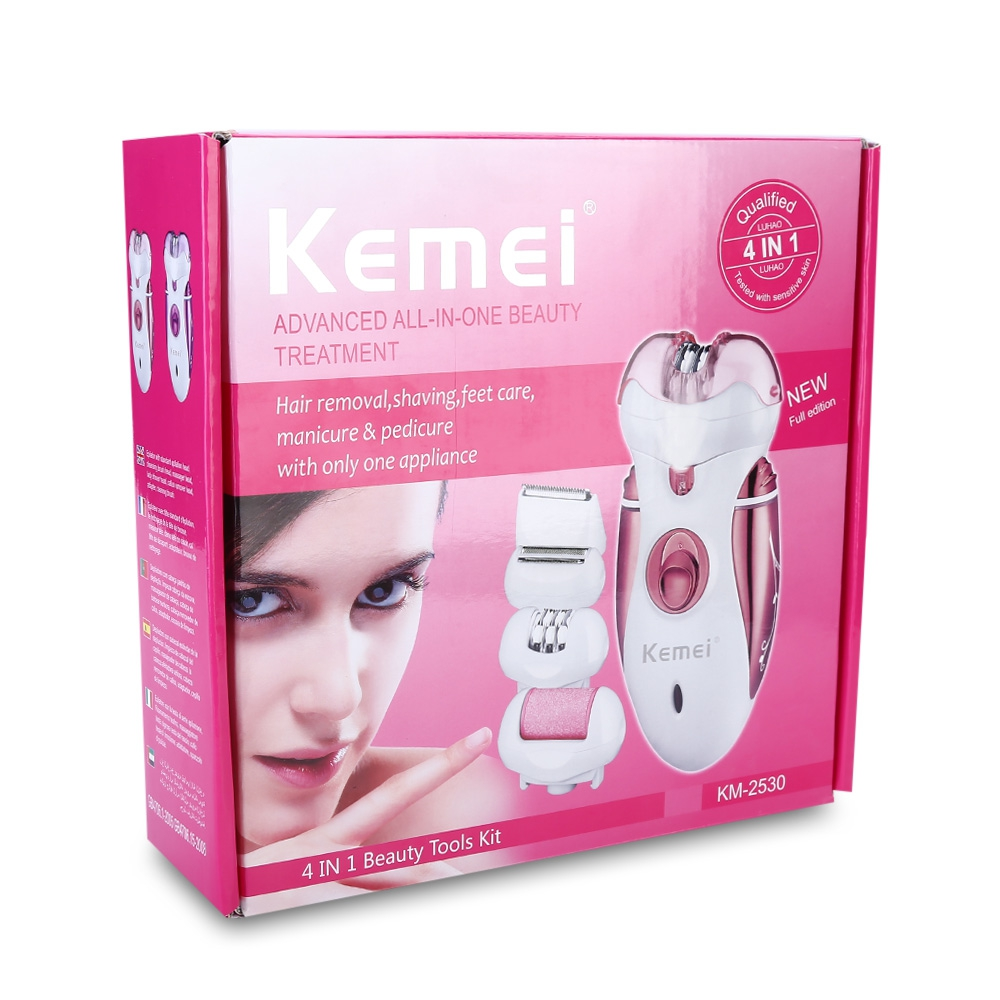 Kemei2530-4-in-1-Multifunctional-Women-Shaver-Electric-Epilator-Rechargeable-Hair-Removal-Foot-Care-Tool-With (4)