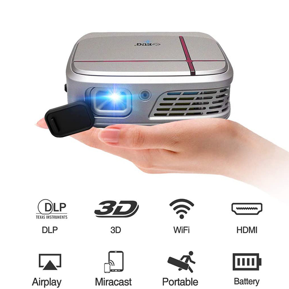 E3W smart projector Wifi Video Projector for Home Theater Movie Gaming TV  Built-in <font><b>Battery</b></font> Speakers Support 1080p image