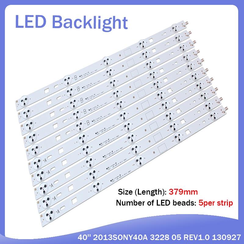 10piece/lot FOR Sony KDL-40W600B LED Backlight Strip A SAMSUNG 2013SONY40A 3228 05 REV1.0 130927 5piece A+ 5piece B