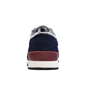 Image 3 - SUROM Männer Lederne Beiläufige Schuhe Mokassins Männer Loafers Luxusmarke Winter Neue Mode Turnschuhe Männlichen Boot Schuhe Wildleder Krasovki