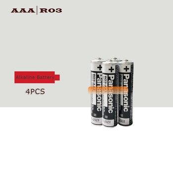 4PCS/LOT Panasonic R03 1.5V AAA Battery Alkaline Batteries No Mercury Dry Battery