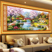 Handmade 2020 Cross Stitch cross stitch fantasy homestead living room bedroom villa landscape large European style decorative