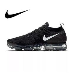 Оригинальные NIKE AIR VAPORMAX FLYKNIT 2,0 спортивная обувь для мужчин дышащие спортивные прочные беговые атлетические кроссовки 942842-001