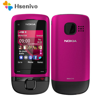 100% Original Unlocked Nokia C2-05  slide cell phone Bluetooth FM Radion Free shipping - discount item  15% OFF Mobile Phones