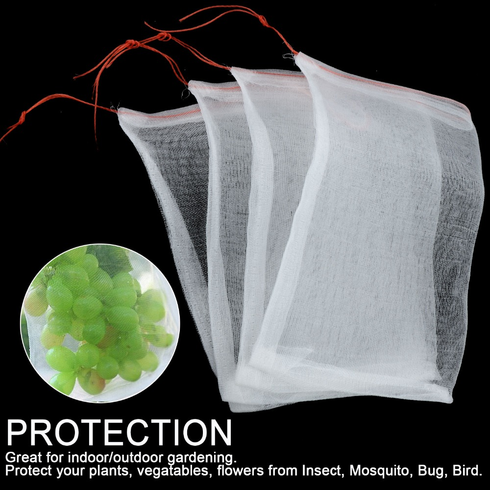 100Pcs Grow Bag Fruits Flowers Plants Insect Repellent Keep Away From Insect Mosquito Bug Bird Care Support Cover Protect Bags