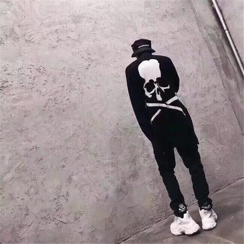 Men Hoodie 2019 Mastermind Japan Sweatshirts Women MMJ Skeleton Skull Logo Knitted Cotton Coat Mastermind Hoodies World in Hoodies amp Sweatshirts from Men 39 s Clothing