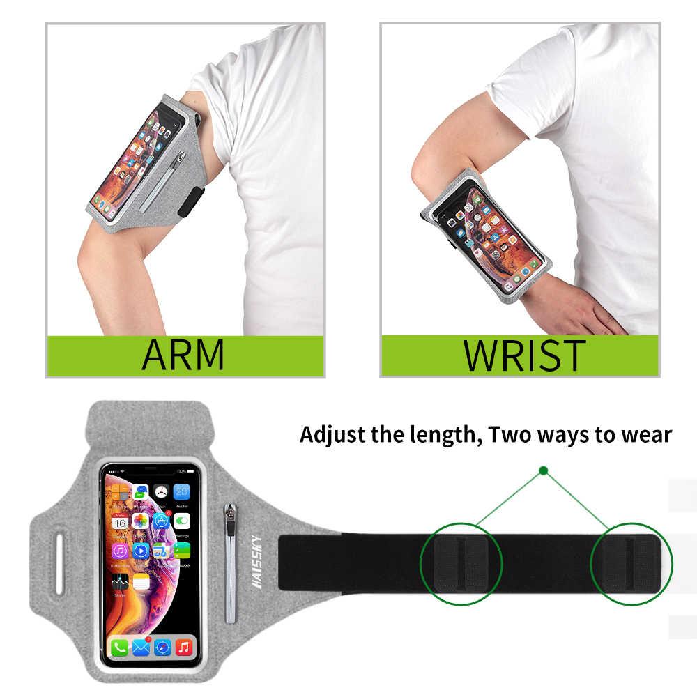 ซิปกระเป๋า Armbands กีฬาสำหรับ Airpods Pro iPhone 11 XS MAX 7 Plus Samsung Huawei Xiaomi Redmi นาฬิกาข้อมือ ARM BAND