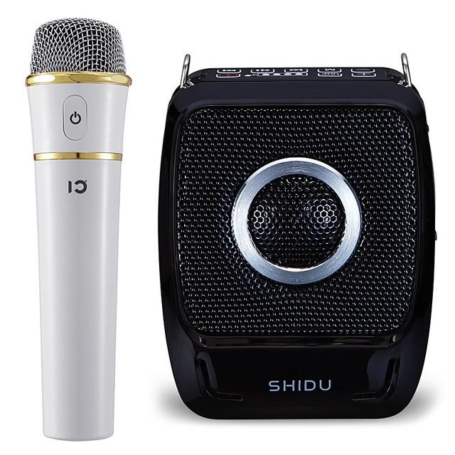 新 25 ワットポータブルメガホン UHF ワイヤレス Bluetooth 音声アンプマイクベルト使用時間 20 時間 2600mAh サポート TF U ディスク USB