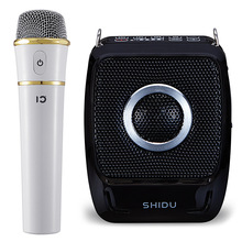 New 25W Portable Megaphone UHF Wireless Bluetooth Voice Amplifier with Mic Belt Use Time 20 Hours 2600mAh Support TF U Disk USB
