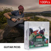 100pcs Guitar Picks Acoustic Electric Plectrums Celluloid Assorted Colors 0.58/0.71/0.81/0.96/1.20/1.50mm Thickness Hot In Sale