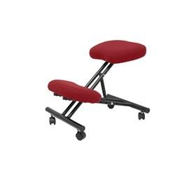 Stołek biurowy ergonomiczny stały  ściemnialny w różnych pozycjach i z kołami do siedzenia tapicerowane w kolorze bibuły BALI w Krzesła barowe od Meble na