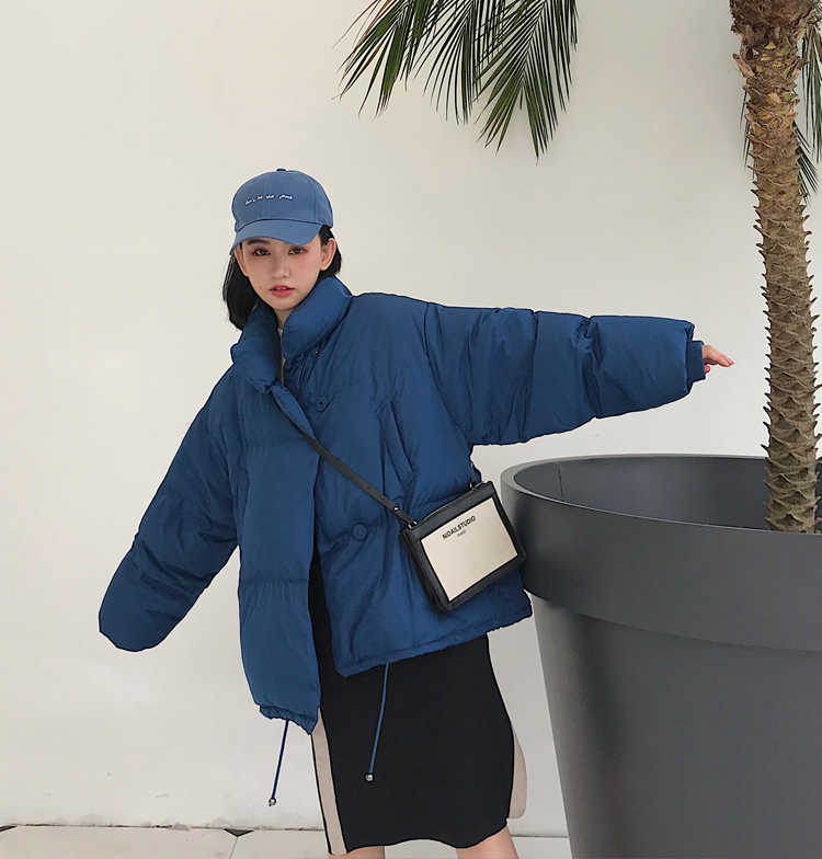 Black Korean Coats Cotton 8
