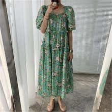 Винтажное шикарное платье макси с цветочным принтом для женщин