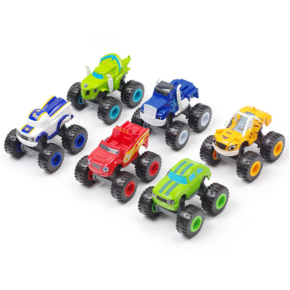 6 Style Toy Racing Car Blaze Monstere Diecast Toy Racer Car Russian Miracle Crusher Truck Racing Mountain Vehicle Gift