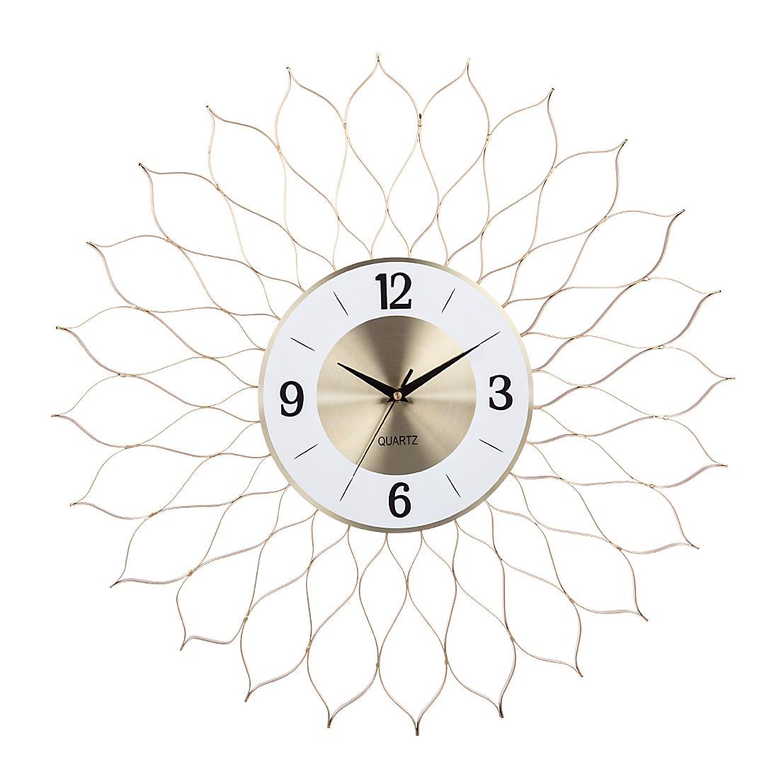 24 pouces 60cm horloges murales créatives en fer forgé muet horloge murale suspendue horloge montre minuterie décor cadeaux de noël 2019-doré