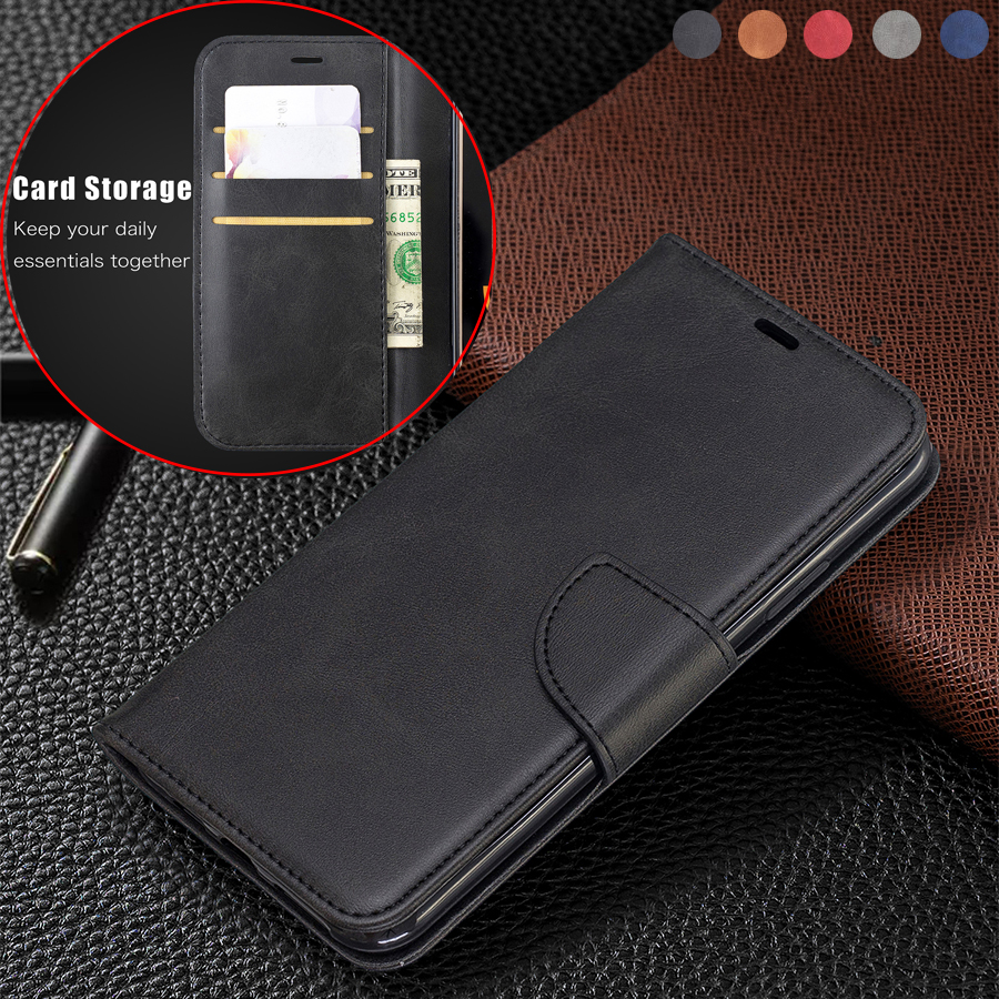 Sheepskin Leather Case For Xiaomi Redmi Note 9 Pro 8T 7 6 5 4 Redmi 9 8 8A 7 7A 6 6A 5 5 Plus K20 K30 F1 Flip Stand Wallet Case(China)
