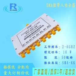 SMA RF Eight Power Divider 2.4G 5.8G 2000-6000MHZ Sma Microstrip One Minute Eight Splitter